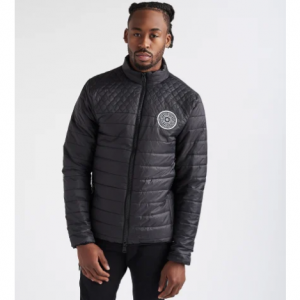 DECIBEL STRIPPED BUBBLE JACKET