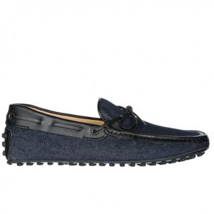 TOD'S Men's leather loafers moccasins laccetto burlotto gommino