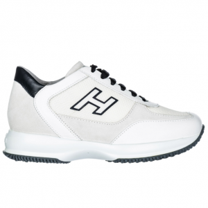 HOGAN Men's shoes leather trainers sneakers interactive h flock