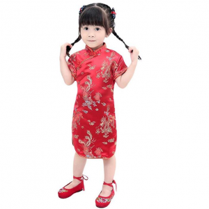 AvaCostume Girls Traditional Chinese Qipao Cheongsam Dress