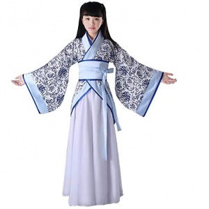 Ez-sofei Girls' Ancient Chinese Traditional Hanfu Dress Han Dynasty Cosplay Costume