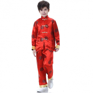 Bitablue Boys Chinese Brocade Happiness and Longevity Matching Set