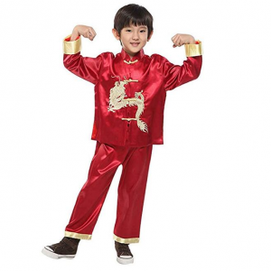 Suimiki Traditional Chinese Dragon Kung Fu Outfit Tang Suit for Boys