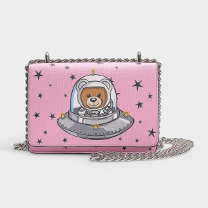 moschino TOY IN THE SPACE FLAP SHOULDER BAG