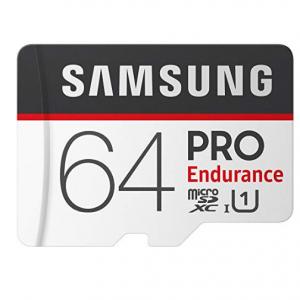 $11.89 off Samsung PRO Endurance 64GB Micro SDXC Card with Adapter - 100MB/s U1 (MB-MJ64GA/AM)
