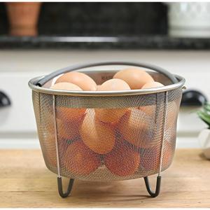 Hatrigo Steamer Basket for Instant Pot Accessories 8 qt [3qt 6qt Avail] fits InstaPot