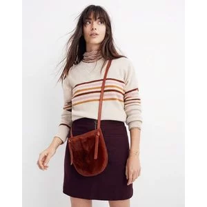 The Knot Crossbody Bag in Faux Fur