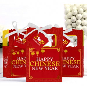 Chinese New Year - 2019 Year of The Pig Party Gift Bag - 12 Count