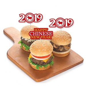 Chinese New Year - Dessert Cupcake Toppers - 2019 Year of the Pig Party Clear Treat Picks - Set of