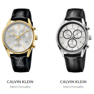 Calvin Klein Men's Formality Watches w/ Leather Strap @ Ashford