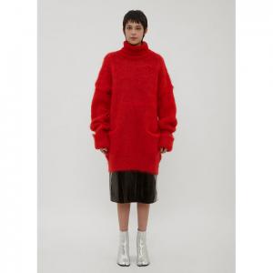 MAISON MARGIELA Oversized Knit Sweater in Red