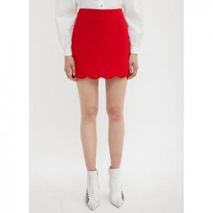 MIU MIU Faille Cady Skirt in Red
