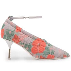 JIL SANDER  Floral brocade bracelet-strap pumps