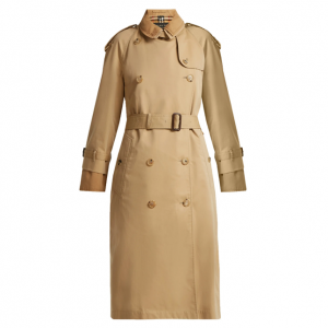 BURBERRY  Double-layer cotton-gabardine trench coat