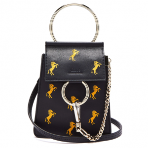 CHLOÉ  Faye mini Little Horses embroidered bag