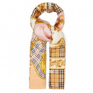 BURBERRY  Padded silk-twill scarf