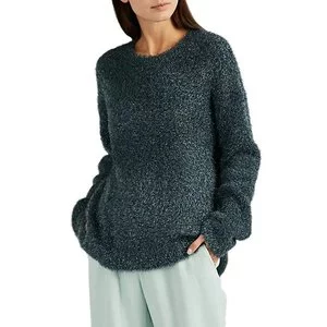 SIES MARJAN Courtney Metallic Crewneck Sweater