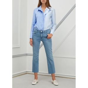 J Brand Selena cropped bootcut mid-rise jeans