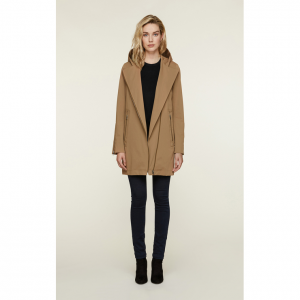 LYA water-repellent trench coat with detachable quilted vest