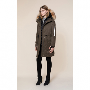 LOIS 3-in-1 utility down coat with removable fur