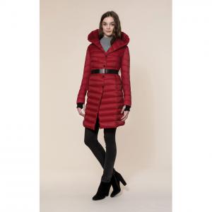 MICHA water-repellent knee length lightweight down coat