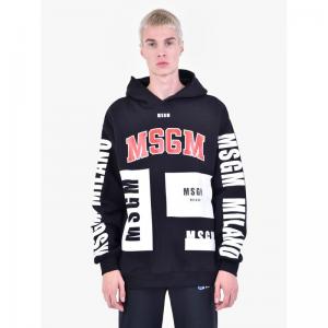 MSGM Printed cotton hoodie