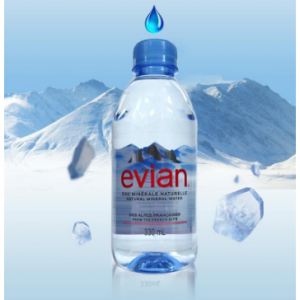 $24.85 Evian Natural Spring Water One Case of 24 Individual 330 ml (11.2 oz.) @ Amazon.com