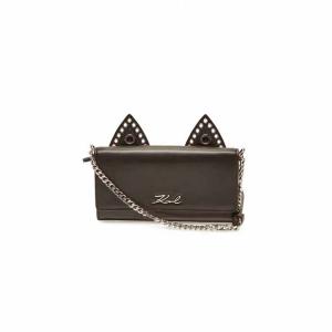 KARL LAGERFELD K/Rocky Choupette Leather Wallet On Chain