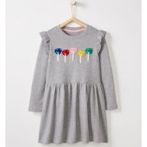 Be Loved Patch Dress In French Terry