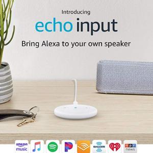Echo Input – Bring Alexa to your own speaker- White @ Amazon