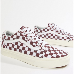 360 SHARE Vans Old Skool checkerboard trainers in red VN0A38G1U541