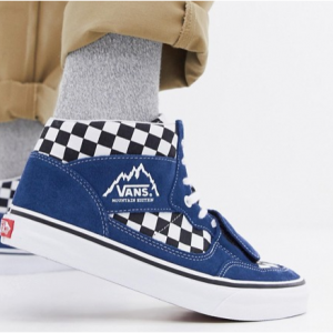 Vans Mountain Edition checkerboard trainers in blue VN0A3TKGU9H