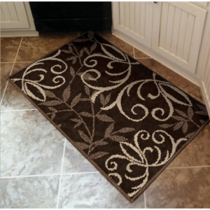 Better Homes & Gardens Iron Fleur Indoor Area Rug 1.67L x 2.83W ft.  Cream/Chocolate