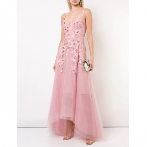 MARCHESA NOTTE empire line embroidered dress