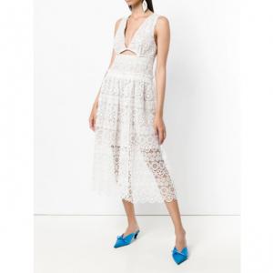 SELF-PORTRAIT cut out lace dress
