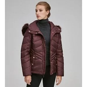 MALLORY CHEVRON QUILTED DOWN COAT