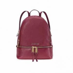 MICHAEL KORS Rhea Medium Leather Backpack - Oxblood