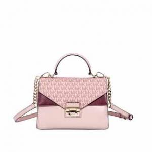 MICHAEL KORS Sloan Leather Medium Satchel - Pink/Multi