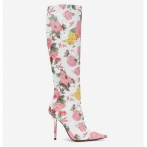 VETEMENTS Floral-Wrap Knee-Highs