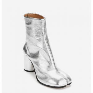MAISON MARGIELA Metallic Leather Tabi Boots