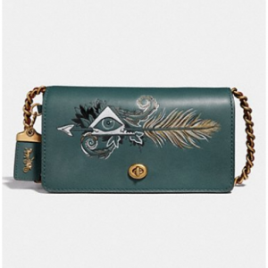 Dinky With Tattoo EVERGREEN/BRASS