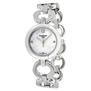 Tissot White Mother of Pearl Diamond Dial Ladies Watch for $139.99 (was $375) @JomaShop