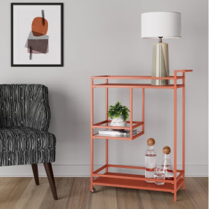 Glasgow Metal Bar Cart Orange Shade - Project 62