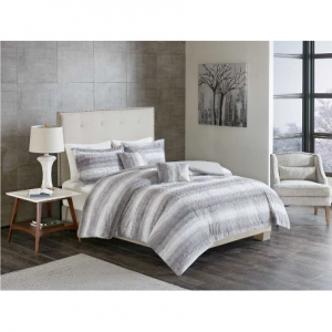 Long Faux Fur Coverlet Set 5pc