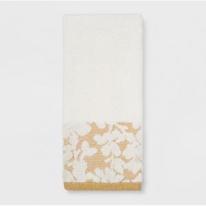 Border Floral Yellow Bath Towel - Threshold