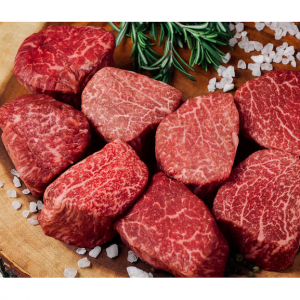 Japanese Wagyu Filet Mignons Steaks, A-5 Grade, 8-count, 6 oz