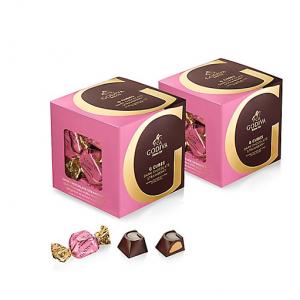 Dark Chocolate Strawberry G Cube Box, Set of 2, 22 pcs. each