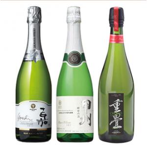 日本の辛口泡飲み比べ3本セット / 高畠ワイン・マンズワイン・大和葡萄酒