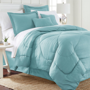 6-Piece Set: Chevron-Embossed Comforter Collection - Assorted Colors