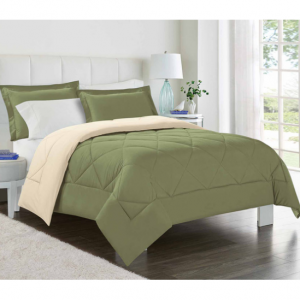 3-Piece Set: Softer Than Down Reversible Comforter & Shams - Assorted Colors